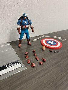 Mezco One 12 Captain America Figure Loose Marvel Steve Rogers