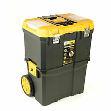 """Tool Chest Professional 19"""" Mobile Storage Box Trolley with Wheels"""