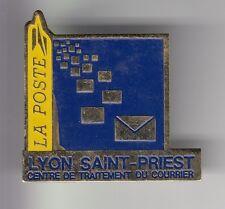 RARE PINS PIN'S .. PTT LA POSTE TRI COURRIER LETTRE SAINT PRIEST LYON 69 BIG ~C5