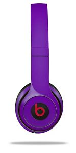 Skin Beats Solo 2 3 Solids Collection Purple Wireless Headphones NOT INCLUDED
