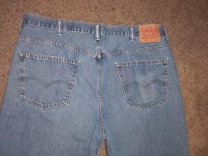 LEVI'S 550 light wash pure cotton denim Jeans 44x29
