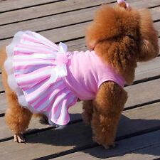 Dog Cat Bow Tutu Dress Skirt Pet Puppy Dog Princess Costume Apparel Clothes M
