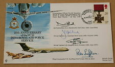 VC10 25TH ANNIVERSARY INTO ROYAL AIR FORCE SERVICE 1991 COVER SIGNED X 4