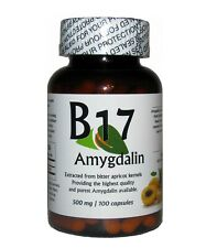 REAL Vitamin B17 Amygdalin 500mg 100 Capsules