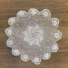 "7.5"" - 8"" Inch Round Cotton Crochet Lace Doily Handmade White 12 PCS Doilies"