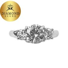 Prong Platinum G Color Vs2 Clarity Grade Gia Certified Round Diamond 1.51 Ct 4