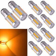 10x Amber 1157 BA15S LED Bulbs Yellow P21W 33SMD 5730 7528 Car Turn Signal Light