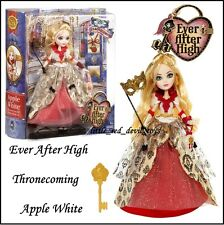 NEUF ever after haute thronecoming Apple white & accessoires robe rouge & gold