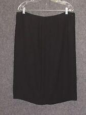 ESCADA Black Silk Straight Skirt SZ 46 - 14