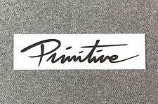 Primitive Skateboard Nuevo Bar Logo Sticker 4in Black/White si