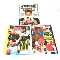 Lot of 3 1990 Buster Douglas Mike Tyson  Ali Boxing Sports Illustrated Magazines