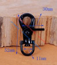 5pc Black Metal Bag Clasps Lobster Swivel Trigger Clip Snap Hook for webbing11mm