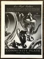 1936 Community Plate Silverplate Serving Pieces Print Ad The Grosvenor