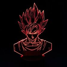 Dragon Ball Z Son Goku 3D Table Lamp LED Light Christmas Gift 7 Color Changing