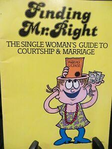 Finding Mr Right a single women's guide by Jane Pratt & Martin Riskin PB #3750