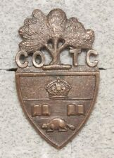 Canadian Army Badge: University of Toronto Cotc - brown