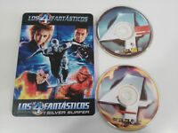 LOS 4 FANTASTICOS + SILVER SURFER - 4 X DVD + EXTRAS ESPAÑOL ENGLISH STEELBOOK