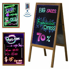 LED Tempered Glass Neon Illuminated Menu Sign Writing Board ADs + Remote Control