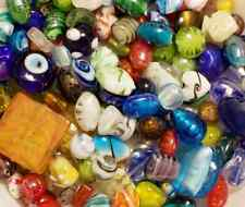 Lampwork Beads 1 LB BULK Mixed Style & Colors Handmade Glass
