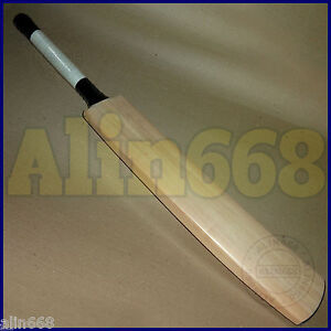 Senior Custom Plain Hand Made English Willow Cricket Bat +Extras FREE KNOCKED IN
