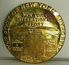 New York international Airport Dedication medallion 1948 Gilt Metal