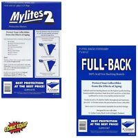 25 Mylites2 STANDARD Mylars Sleeves & Full Back 42pt Boards 725M2/700FB E.Gerber