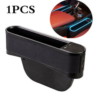 Right Car Seat Seam Storage Box W/ Ambient Light 4USB Car Interior Accessories
