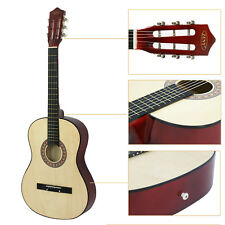 """38"""" Beginners Acoustic Guitar w/Case, Strap,Turner, Pick, Extra String Burlywood"""