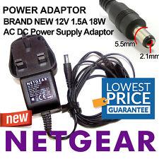 Netgear 12 V 1.5 A 18 W AC DC cargador adaptador de fuente de alimentación PSU CCTV Tira de Luz LED