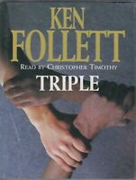 Triple Ken Follett 2 Cassette Audio Book Abridged Spy Thriller FASTPOST