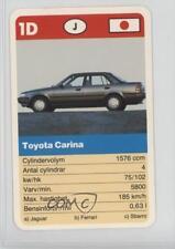1990 ACE Super-Trumf Cars #1D Toyota Carina Non-Sports Card 0w6