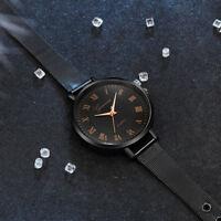 Luxury Waterproof Women Watches Stainless Steel Quartz Analog Wrist Watch Gift