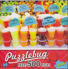 NEW Puzzlebug 500 Piece Jigsaw Puzzle ~ Colorful Fruit Juices, Barcelona