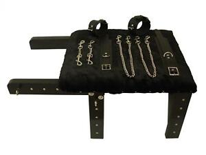 MicheleX MXL501 Bondage Stool with Snap Chains, Wrist & Ankle Cuffs
