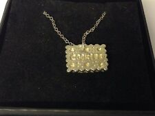 """Cookie TG620 Pewter On 18"""" Silver Plated Curb Necklace"""