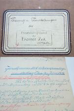 UNIKAT Handschrift HAMBURG 1916: Protokolle Freundschaftsbund aus Eiserner Zeit