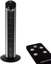 Ventilador de Torre Digital, Cecotec ForceSilence, 3 Velocidades, Blanco, Negro.