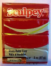 M00454 Morezmore Sculpey Iii Red 2 oz Polymer Oven-Bake Clay S302 083 A60