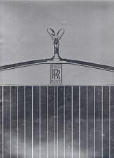 ROLLS-ROYCE SILVER SPIRIT CILINDRICI CORNICHE 1986-87 Regno Unito delle vendite sul mercato opuscolo