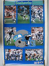 RARE SEATTLE SEAHAWKS TEAM STARS 1986 VINTAGE ORIGINAL NFL STARLINE POSTER
