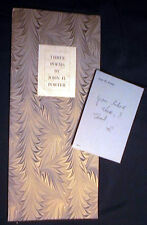 CIRCA 1970 JOHN H PORTER THREE POEMS AUTHOR PUBLISHED NOTE INITIALED