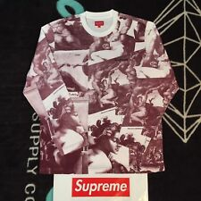"""SUPREME """"MICHELANGELO L/S TOP"""" (LARGE) (BURGUNDY) FW17 NAS TEE SCARFACE JACKET"""
