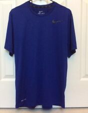 Nike Lightweight Short Sleeve T Shirt Blue And Black Men's Large 742228-455