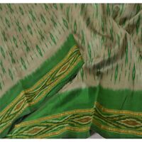 "Tcw  Vintage Pure Silk Woven Design Fabric Decor Patola Craft 40""X44"" Grey"