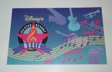 VINTAGE WALT DISNEY WORLD ORLANDO FLORIDA ALL STAR MUSIC RESORT POSTCARD 1990'S