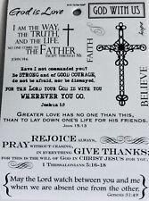 Religious Rejoice God is Love Bible Verse Phrase Scrapbook Stickers