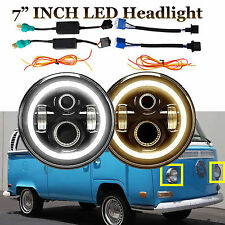 "2x7""LED Round Headlight H4 H13 Hi/Lo Beam For International 4300 4400 4200 Truck"