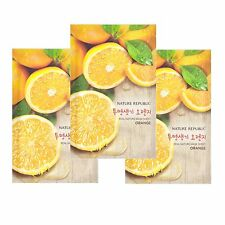 Nature Republic Real Nature Orange Mask Sheet 23ml 3 pcs Refine Dull Skin Tone