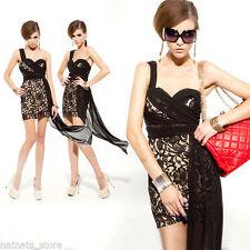 Regular Lace Asymmetrical Hem Dresses for Women