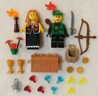 NEW LEGO ROBIN HOOD & MAID MARIAN MINIFIG LOT castle figure forestman minifigure